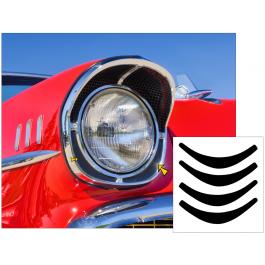 1957 Chevy Bel Air Headlight Bezel Insert Decals