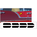 1956 Chevy Bel Air Upper Paint Divider Insert Decal Kit - Hardtop Sports Coupe