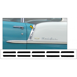 1955 Chevy Bel Air Upper Paint Divider Insert Decal Kit - 2 Door Coupe / Convertible