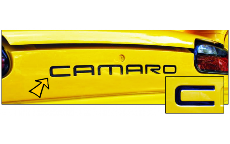 1993-02 Camaro Embossed Rear Bumper Letters
