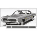 1966 Pontiac Lemans Sprint Stripe Kit - No Name