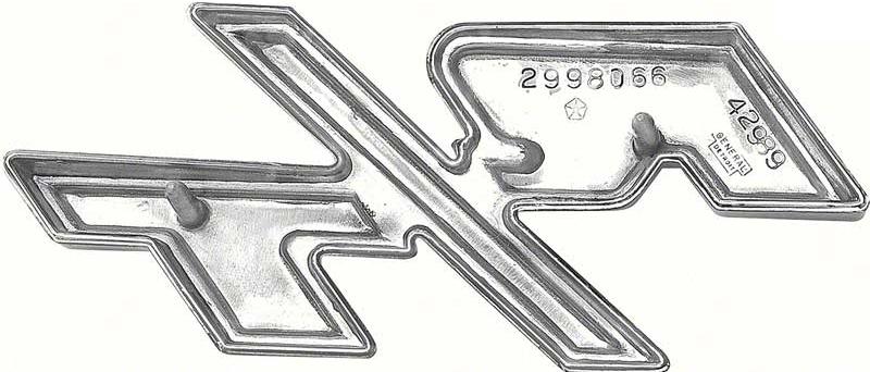 1970 Dodge Coronet R T Hood Emblem Center Hood