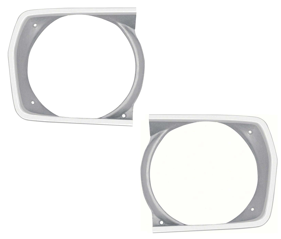 1971 1972 Duster 340 / Duster Twister Sharktooth Grill Headlamp Bezels