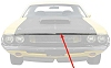 "1970 Dodge Challenger T/A Hood Lip Trim Molding 52"" Long"