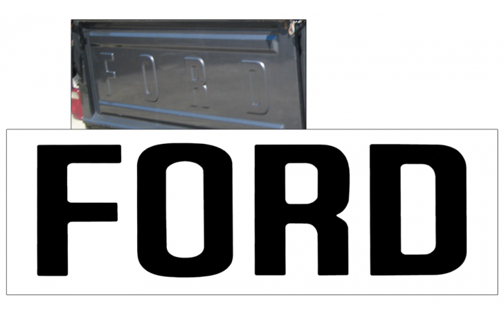1980-89 Ford F100 - F250 Tailgate Letter Decals - STYLESIDE - FLAIRSIDE