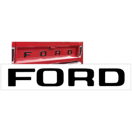 1961-66 Ford F100 and F150 Tailgate Letter Decal Set - STYLESIDE